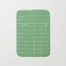 Library Card BSS 28 Negative Green Bath Mat