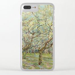 """Vincent van Gogh """"The White Orchard"""" Clear iPhone Case"""