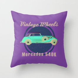 Vintage Wheels - Benz 540K Throw Pillow
