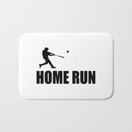 home run baseball sports hobby Bath Mat