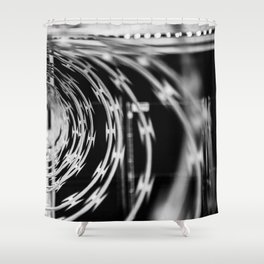 L.A. Barbed Wire Shower Curtain