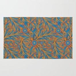 psychedelic Art Nouveau  Rug