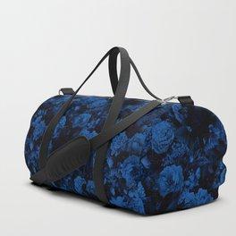 winter flowers seamless pattern 01 small dark blue Duffle Bag
