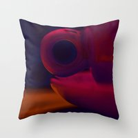 cup Throw Pillows featuring Cup by PeDSchWork
