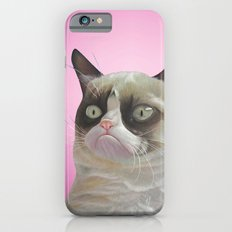 grumpy-cat-pink iPhone 6s Slim Case
