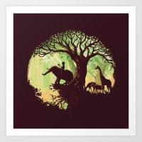 jungle Art Prints featuring The jungle says hello by Picomodi