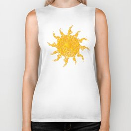 A Sun full of hearts Biker Tank