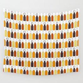 Vintage Beer Bottles Wall Tapestry