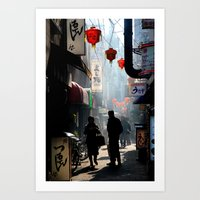 kobe Art Prints featuring An Afternoon in Kobe, Japan by Jason Halayko
