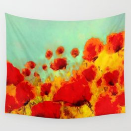 FLOWERS - Poppy time Wall Tapestry