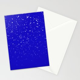 Effet neige bleu roi Stationery Cards