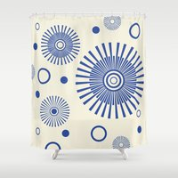 fireworks Shower Curtains featuring Fireworks by Amy Newhouse