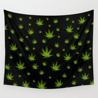 weed Wall Tapestries featuring Weed Weed Weed by Spyck
