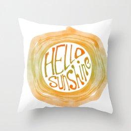 Hello Sunshine - Sun Throw Pillow