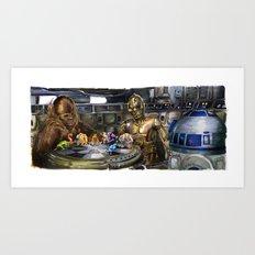 Star Wars - Let the Wookiee Win Art Print