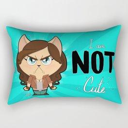 I am NOT cute (Full body + text) Rectangular Pillow