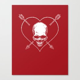 Eros & Thanatos (Joli Rouge Red Flag) Canvas Print