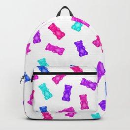 Pink Blue Purple Gummy Bear Pattern Backpack