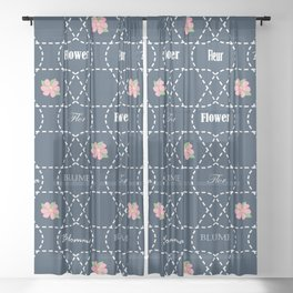 Flower Sheer Curtain