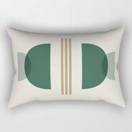 Emerald Abstract Half Moon 2 - Green Rectangular Pillow
