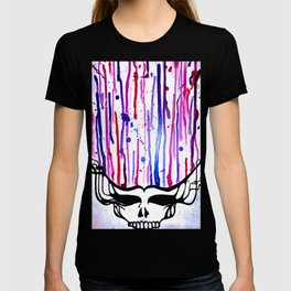 One of a Kind Grateful Dead Head Painting  T-shirt