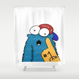 Number One Fan Shower Curtain