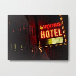 The Irving Park Hotel ~ Chicago Noir ~ Vintage Neon Sign Metal Print