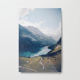 Switzerland Mountain Lake Metal Print