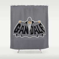 gandalf Shower Curtains featuring Gandalf by Buby87