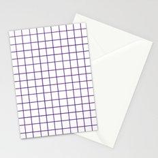 Grid (Indigo/White) Stationery Cards