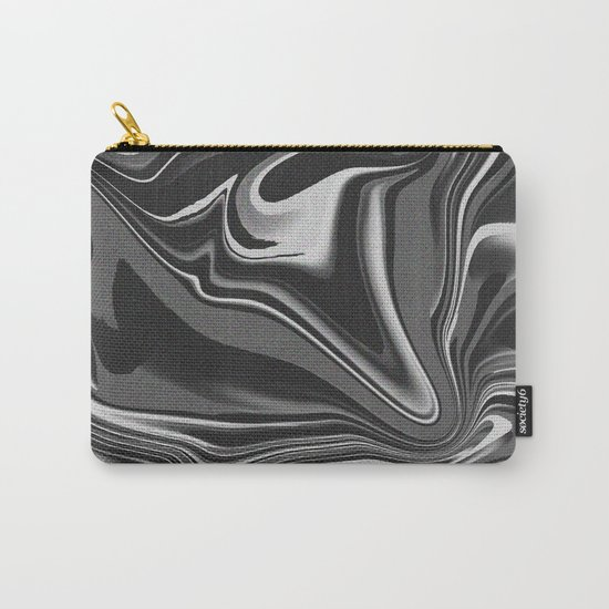 noisy black and white glitch Carry-All Pouch