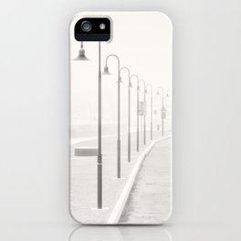 The street lamps in the dock of Senigallia, Italy iPhone Case