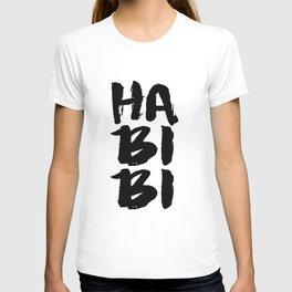 Arabic wall art,habibi typography print, printable art, valentine printable, love print T-shirt