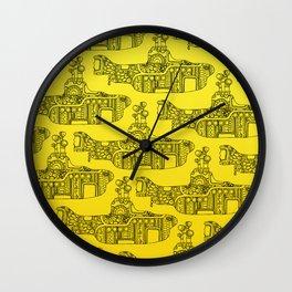 Yellow Submarine Pattern Wall Clock