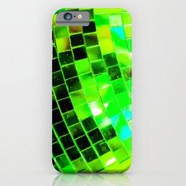 Funky Green Disco Ball iPhone Case