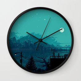 Dark Harbor Wall Clock