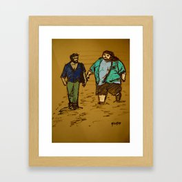 out the hatch Framed Art Print