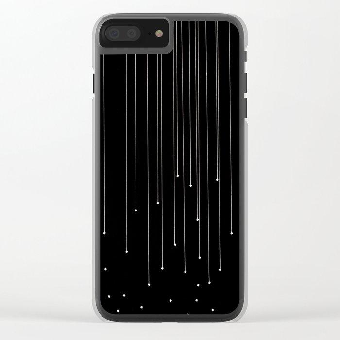WHITE LITTLE RAIN Clear iPhone Case