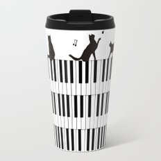 Piano Cat Travel Mug