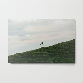 MAN - RUNNING - DOWNHILL Metal Print