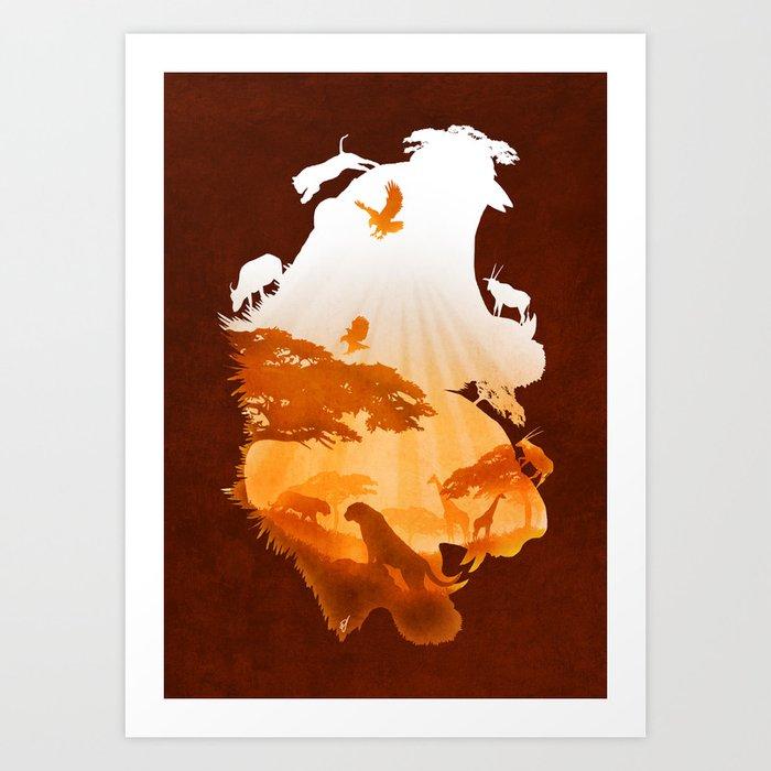 Tigers Realm Art Print