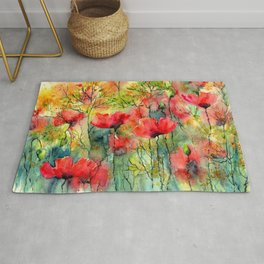 The Poppies Grow Rug