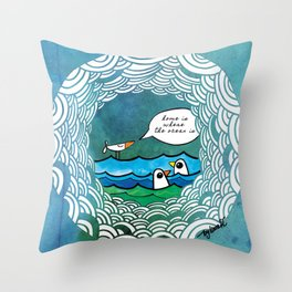 home is where the ocean is Throw Pillow