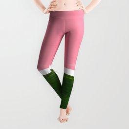 Colorful Minimalist Mid Century Modern Shapes Pink Olive Green Yellow Ochre Rothko Minimalist Square Leggings