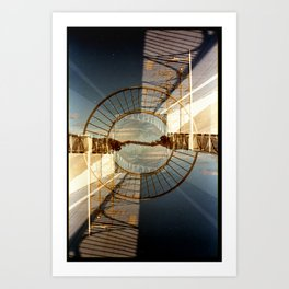 Landscapes c10 (35mm Double Exposure) Art Print