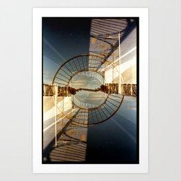 Landscapes c10 (35mm Double Exposure) Art Print