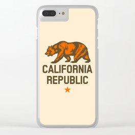 California Republic Clear iPhone Case
