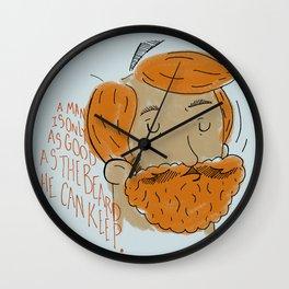 Beard Pride Wall Clock