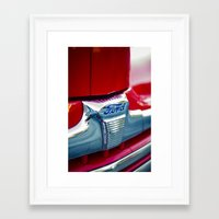ford Framed Art Prints featuring Ford by Grafiko