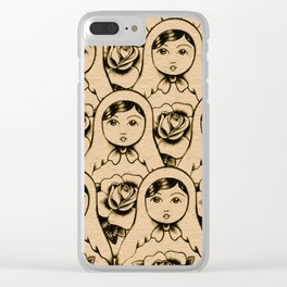 Russian doll march Clear iPhone Case